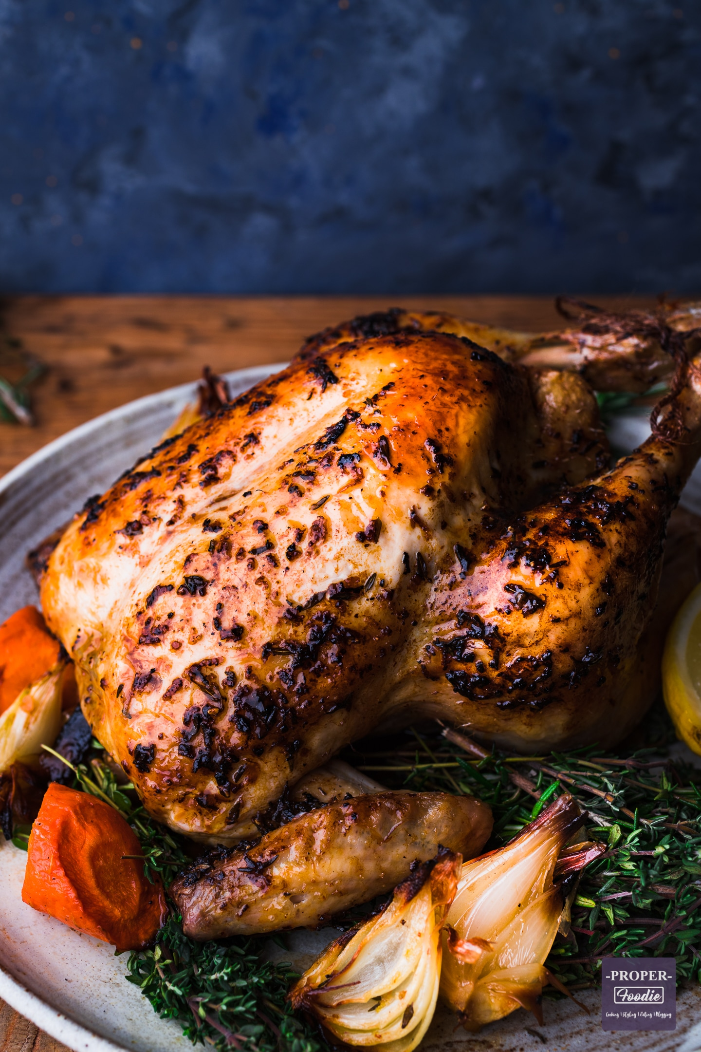 Roast chicken with lemon