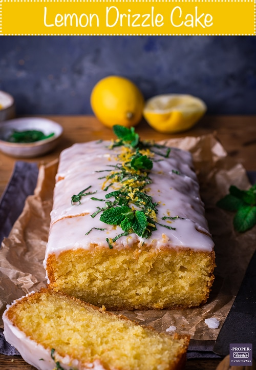 lemon drizzle cake with citrus icing