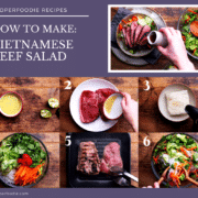 Step by step pictures for making Vietnamese beef salad