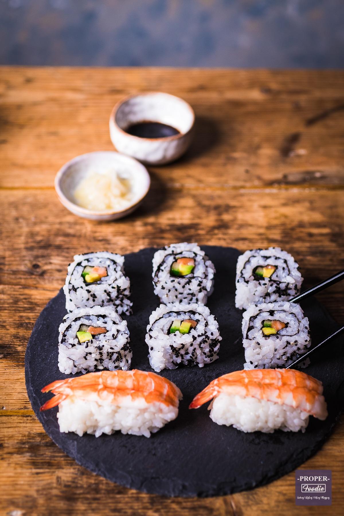California rolls sushi and nigiri sushi