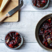 fig and apple chutney with cheese