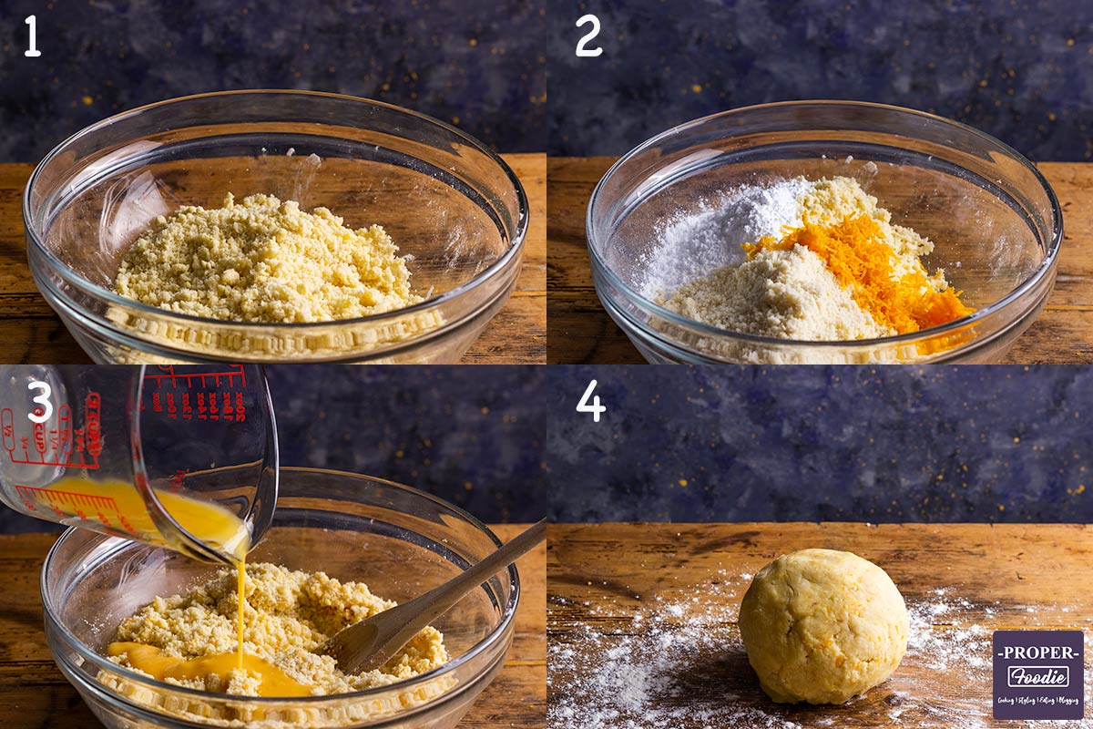 four images showing how to make Easy Mince Pies, steps 1-4.