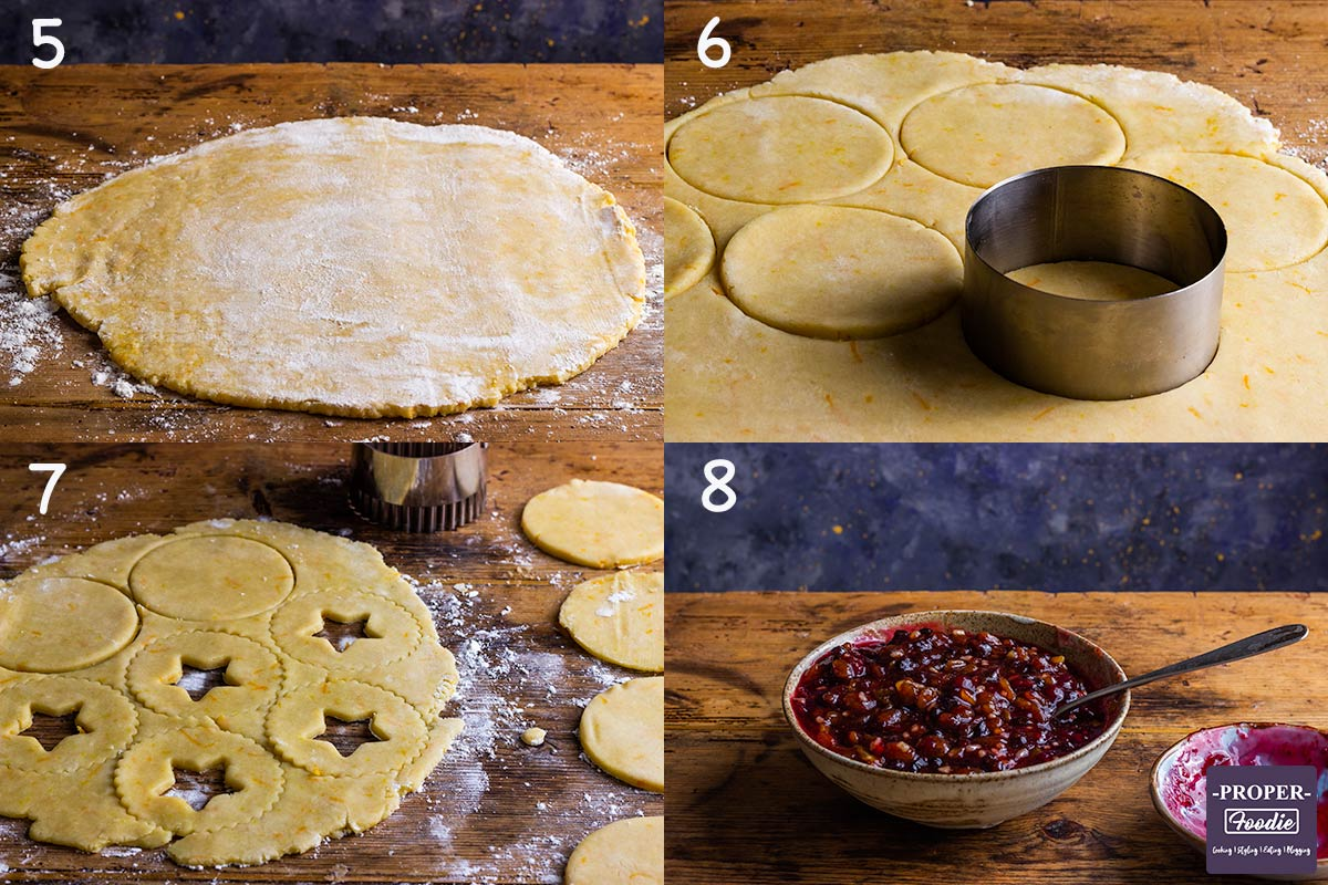 four images showing how to make Easy Mince Pies, steps 5-8.